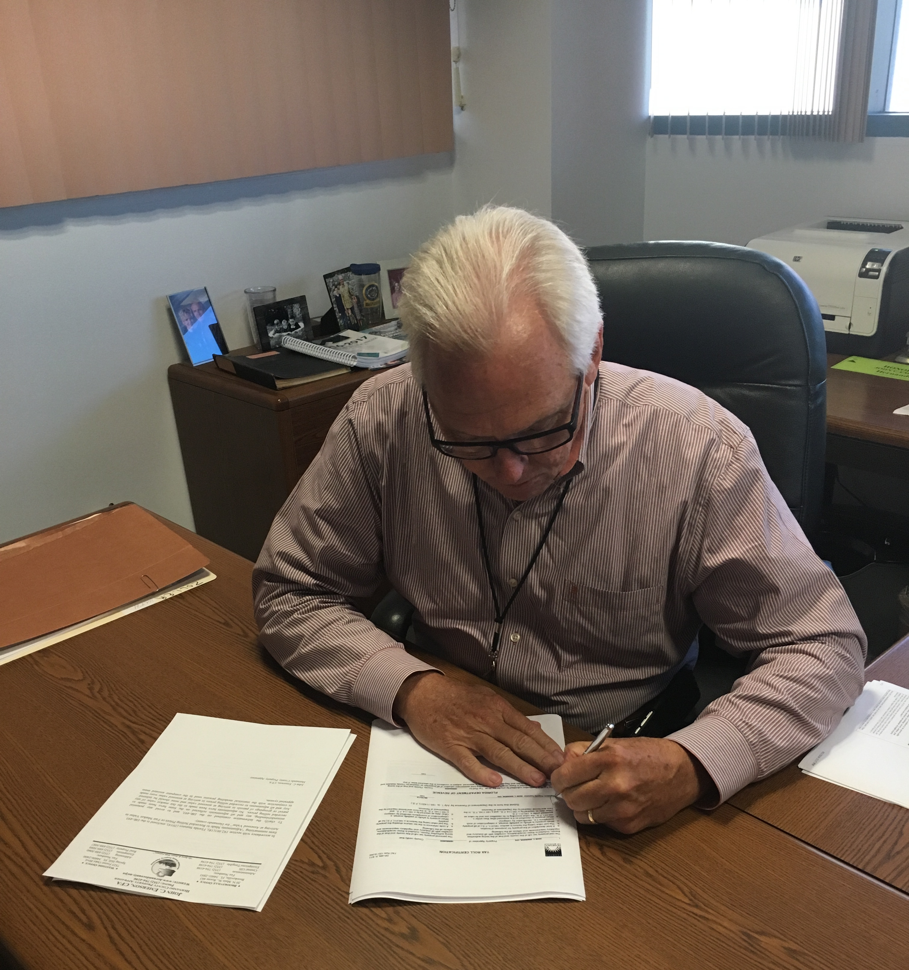 2014 oneida county tax rolls - John Emerson Signing The 2016 Final Tax Roll For Submission To The Department Of Revenue The Certification Of The Final Roll Is Then Sent To The Tax